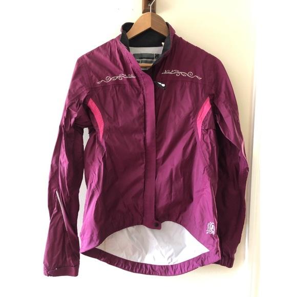 Novara Jackets & Blazers - Plum Novara Cycling Waterproof Wind Breaker Jacket
